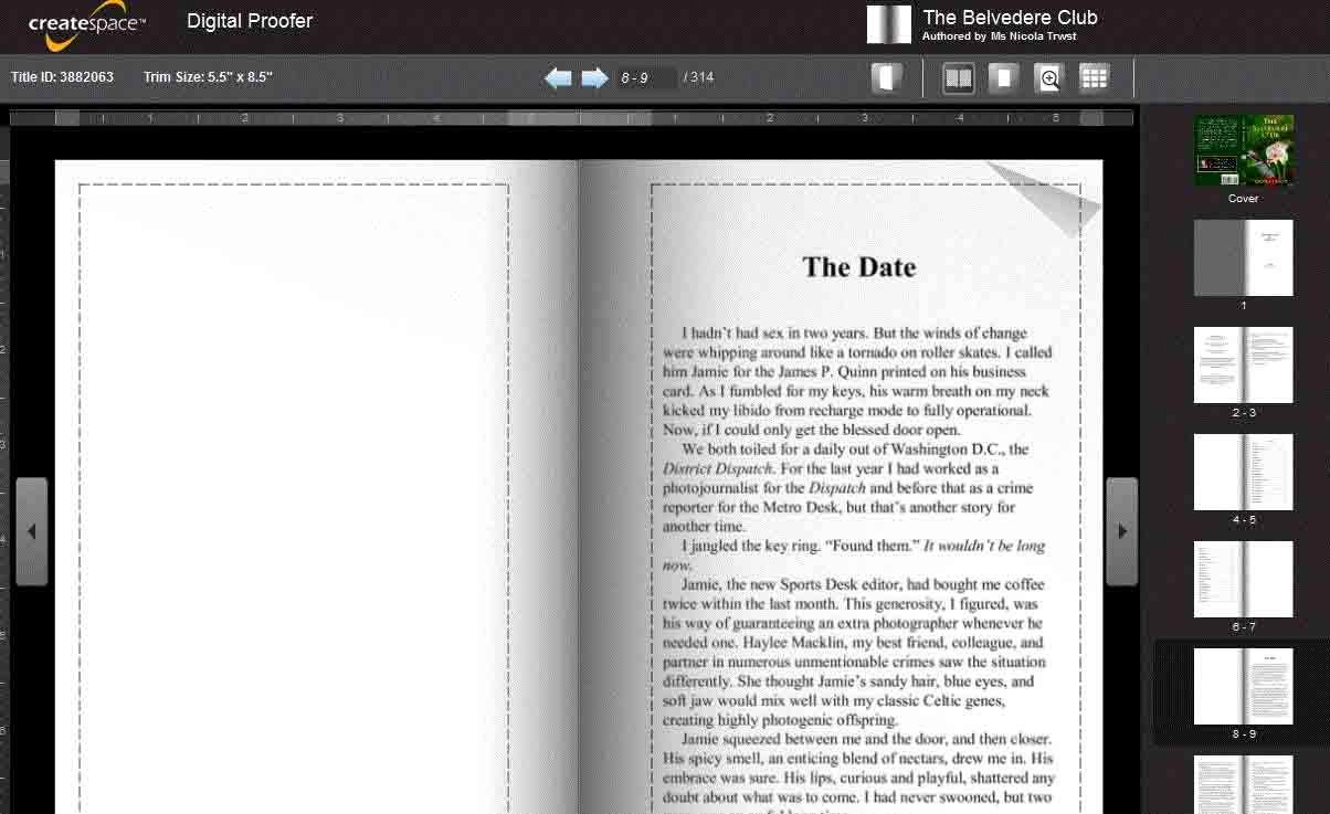 Key steps to self publishing for Createspace formatted template